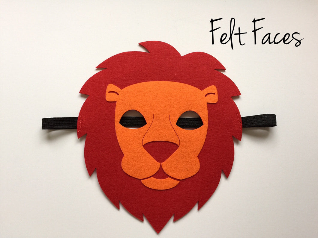 Lion Mask, Lion Mascot Mask, Lion King Party Favors, Lion Guard Party Ideas