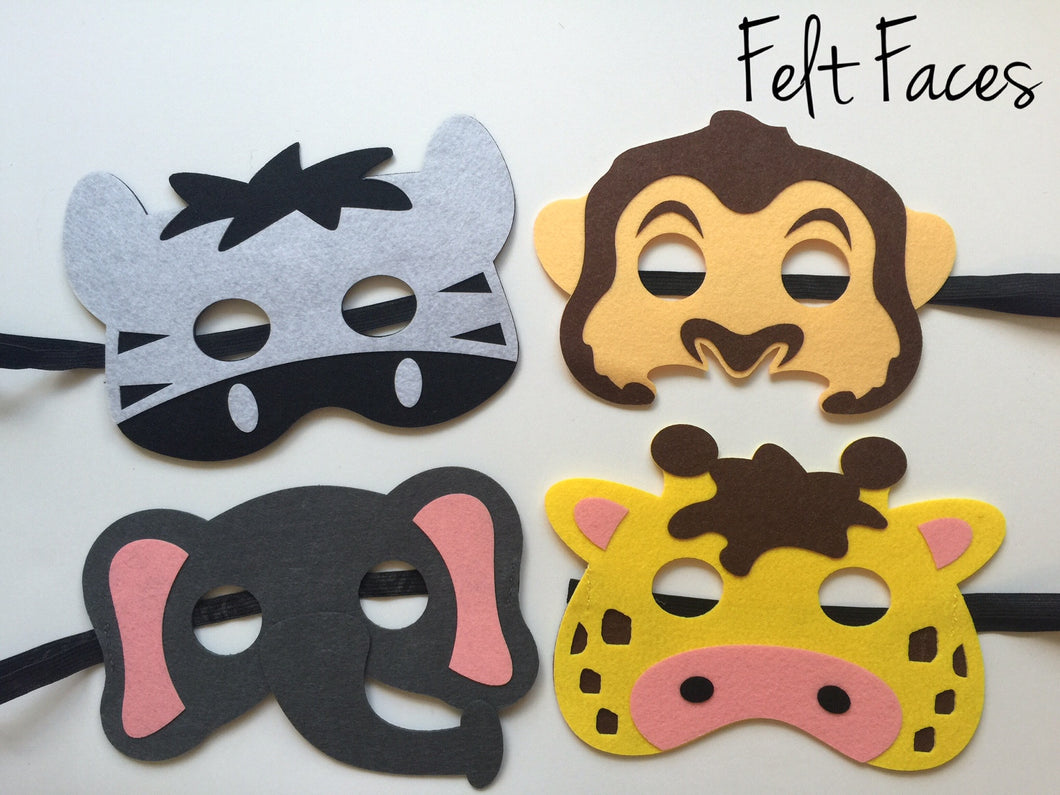 Zoo Animal Party Masks, Zoo Animal Party Favors, Zoo Animal Party Supplies
