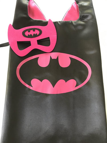 Batgirl Cape Mask Set, Superhero Party Favors, Superhero Birthday, Batgirl Party, Superhero Party Favors, Batgirl Party, Superhero Costume, Kids Batgirl Costume