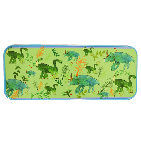 Green Dinosaur Pencil Case