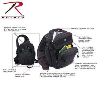 Rothco Bags Black Rothco Compact Tactisling Shoulder Bag
