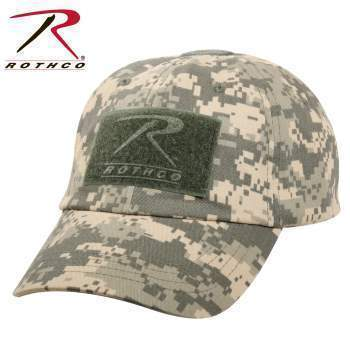 Rothco caps ACU Digital Camo Tactical Operator Cap PLUS Patch Combo (Various options)