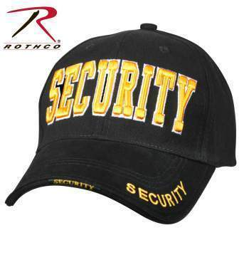 Rothco caps Black/Gold Rothco Security Deluxe Low Profile Cap