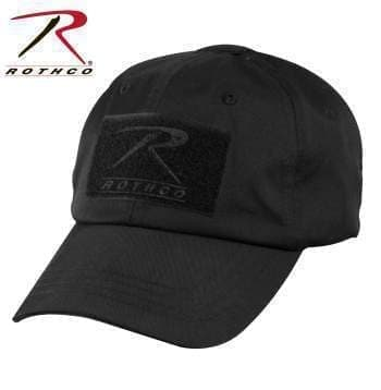 Rothco caps Black Tactical Operator Cap PLUS Patch Combo (Various options)