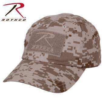 Rothco caps Desert Digital Camo Tactical Operator Cap PLUS Patch Combo (Various options)