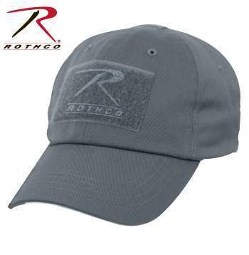 Rothco caps Gun Metal Grey Tactical Operator Cap PLUS Patch Combo (Various options)