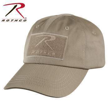 Rothco caps Khaki Tactical Operator Cap PLUS Patch Combo (Various options)