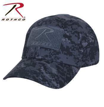 Rothco caps Midnight Digital Camo Tactical Operator Cap PLUS Patch Combo (Various options)