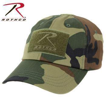 Rothco caps Woodland Camo Tactical Operator Cap PLUS Patch Combo (Various options)