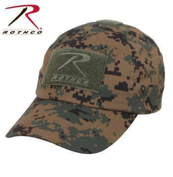 Rothco caps Woodland Digital Camo Tactical Operator Cap PLUS Patch Combo (Various options)