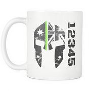 SPARTAC Australia Drinkware green Custom Thin Green Line Mug