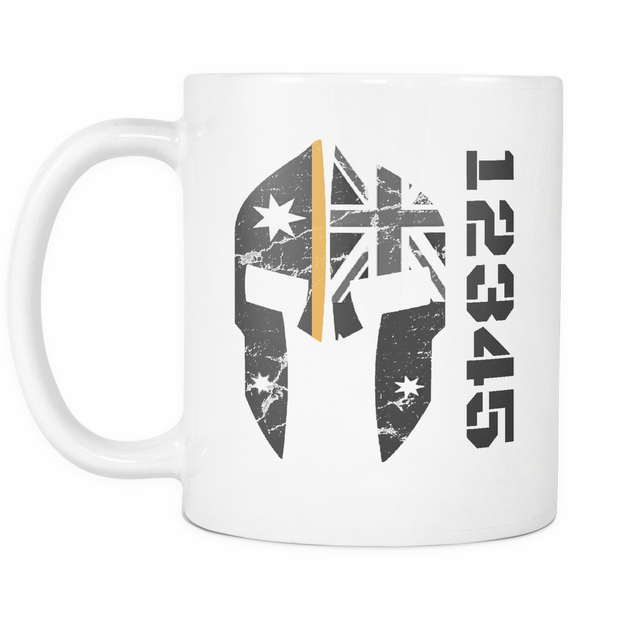 SPARTAC Australia Drinkware orange Custom Thin Orange Line Mug