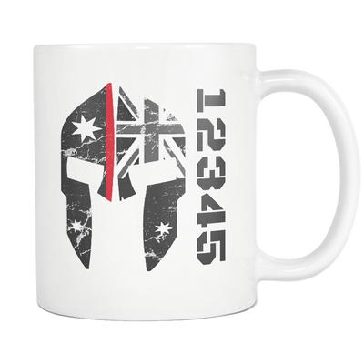 SPARTAC Australia Drinkware red Custom Thin red Line Mug