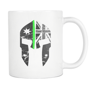 SPARTAC Australia Drinkware Thin Green Line Spartac Mugs (All Lines Available)