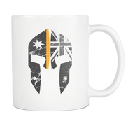 SPARTAC Australia Drinkware Thin Orange Line Spartac Mugs (All Lines Available)