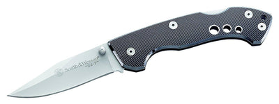 SPARTAC Australia Knives Smith & Wesson® 24-7 Folder w/ Drop Point blade/ Aluminium handle
