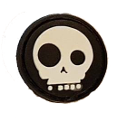 SPARTAC Australia Patches Comedy Skull Mini Morale Patches