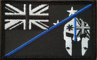 SPARTAC Australia Patches NZ Thin Blue Line Spartan Flag Patches