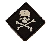 SPARTAC Australia Patches Skull and Crossbones Mini Morale Patches