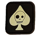SPARTAC Australia Patches Skull Club Mini Morale Patches