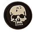 SPARTAC Australia Patches Skull Mini Morale Patches