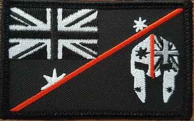 SPARTAC Australia Patches Thin Orange Line Spartan Flag Patch