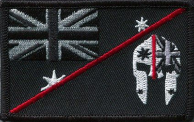 SPARTAC Australia Patches Thin Red Line Spartan Flag Patches