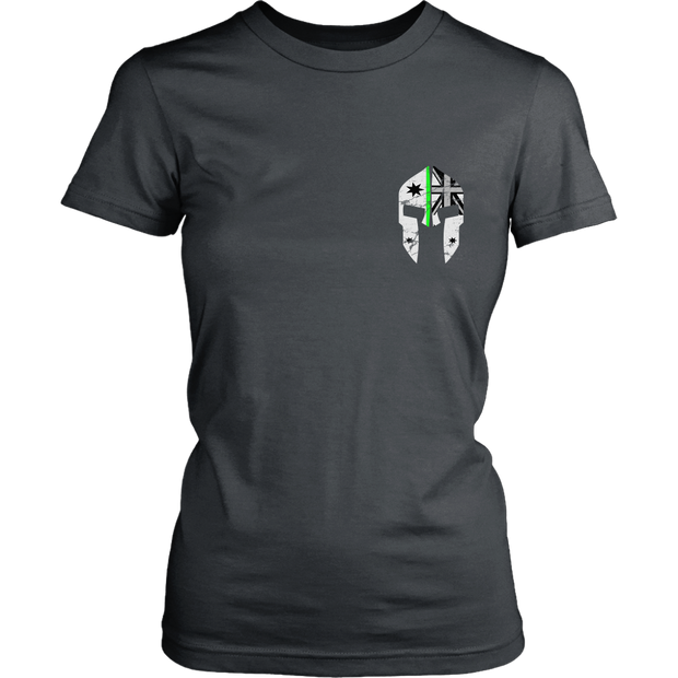 SPARTAC Australia T-shirt District Womens Shirt / Charcoal / 8 SPARTAC 1.0 Thin Green Line - Womens