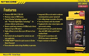 SPARTAC Australia torch Add Nitecore Battery 18650 USB Rechargeable Nitecore P20