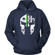 teelaunch T-shirt Unisex Hoodie / Navy / S Spartac Classic v2 Thin Green Line Hoodie