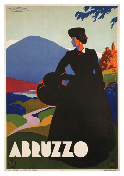 ABRUZZO TRAVEL POSTER: Vintage Italian Tourism Advert - The Print Arcade