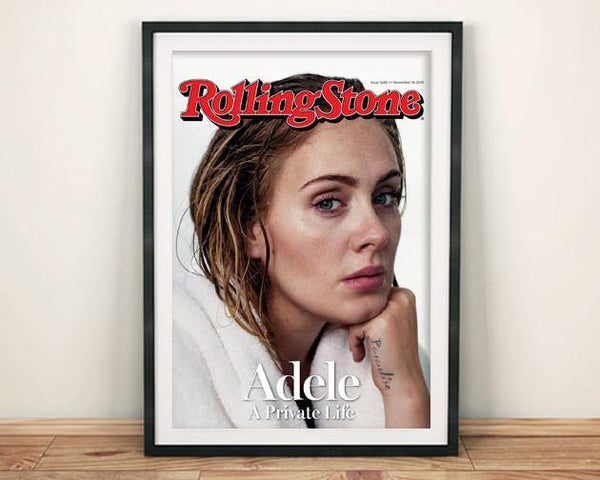 ADELE POSTER: Rolling Stone Pop Music Cover Art Print - The Print Arcade