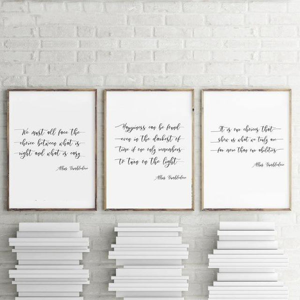 DUMBLEDORE QUOTES: Harry Potter Themed Canvas Prints - The Print Arcade
