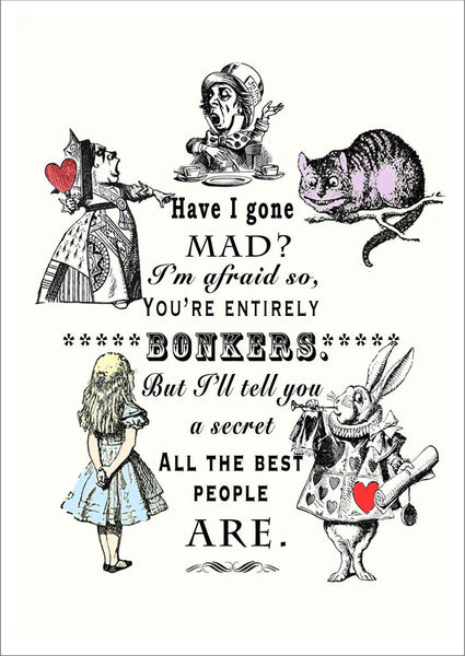 BONKERS PRINT: Vintage Alice in Wonderland Art - The Print Arcade