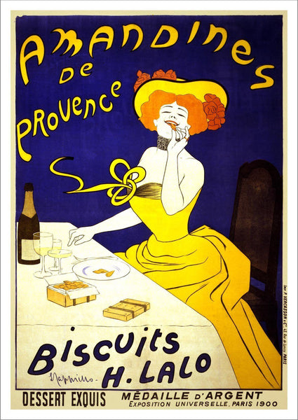 AMANDINES POSTER: Vintage French Biscuit Advert Art Print - The Print Arcade