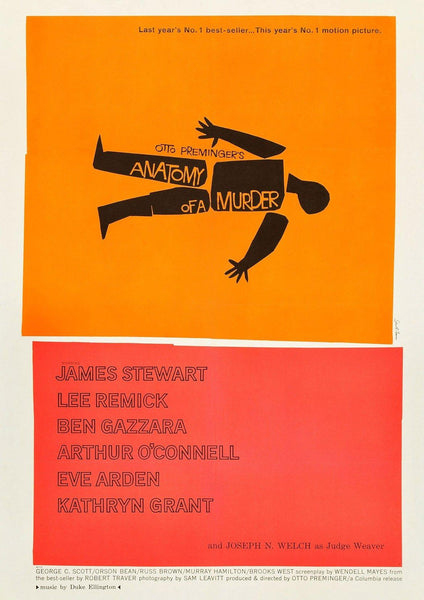 ANATOMY OF A MURDER: Movie Poster Reprint - The Print Arcade