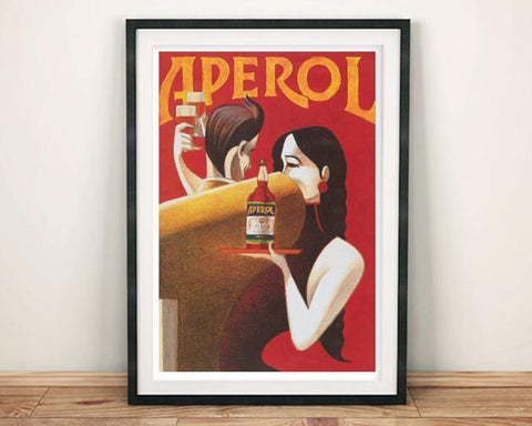 APEROL POSTER: Vintage Red Alcohol Art Print - The Print Arcade