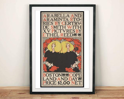 ARABELLA & ARAMINTA POSTER: Vintage Book Cover Art Print - The Print Arcade