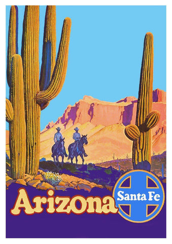 ARIZONA DESERT POSTER: Vintage Travel Advert, Cactus Art Print - The Print Arcade