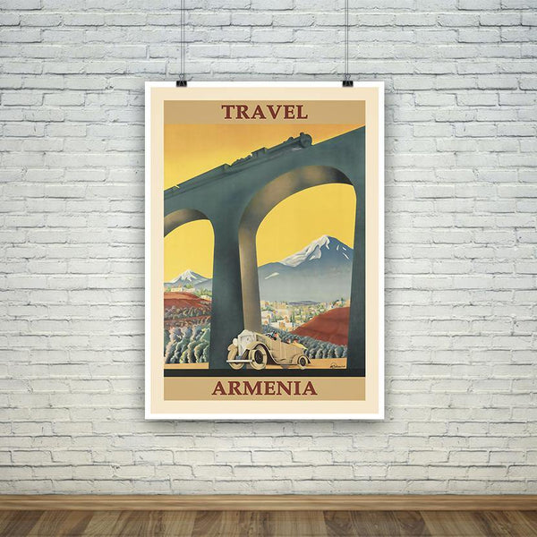 ARMENIA POSTER: Vintage Eastern Europe Advert Print