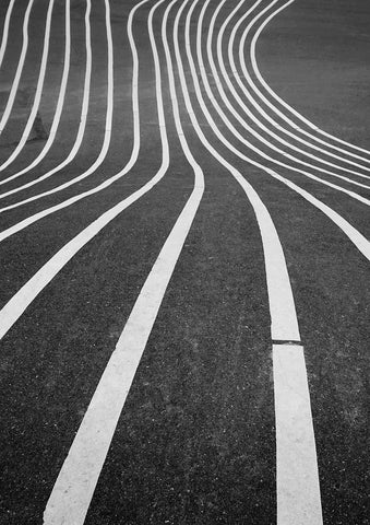 ASPHALT PRINT: Striped Road Photo Art - The Print Arcade