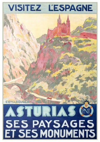 ASTURIAS TRAVEL POSTER: Vintage Spain Advert Print - The Print Arcade