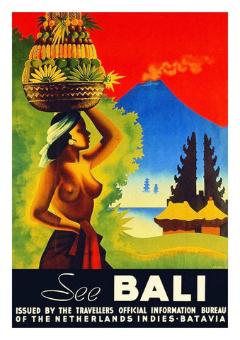 BALI TRAVEL POSTER: Vintage Indonesian Island Print - The Print Arcade