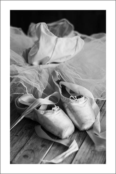BALLET SHOES PRINT: Ballerina Slippers Photo Art
