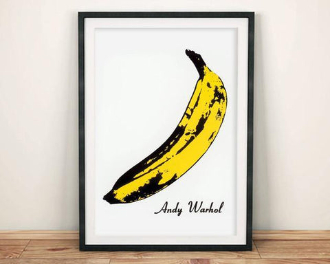 ANDY WARHOL BANANA POSTER: Velvet Underground Cover Print - The Print Arcade