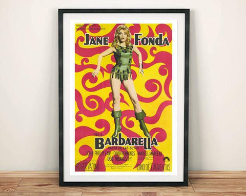 BARBARELLA POSTER: Cinema Movie Art Print