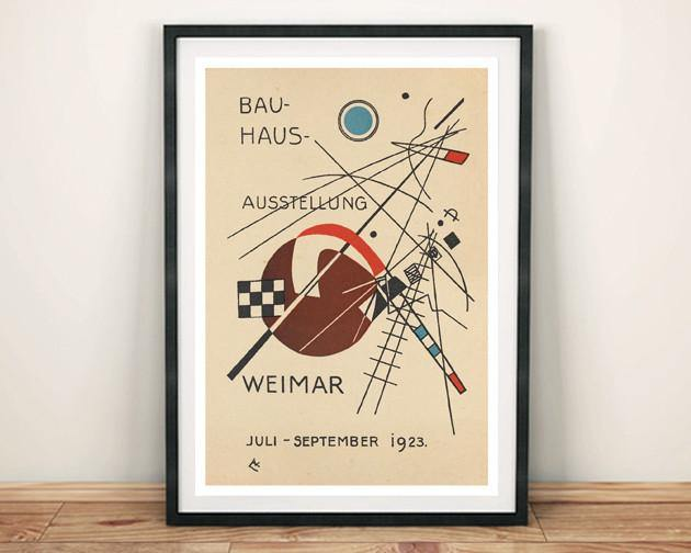 BAUHAUS EXHIBITION POSTER: Reproduction Gallery Poster