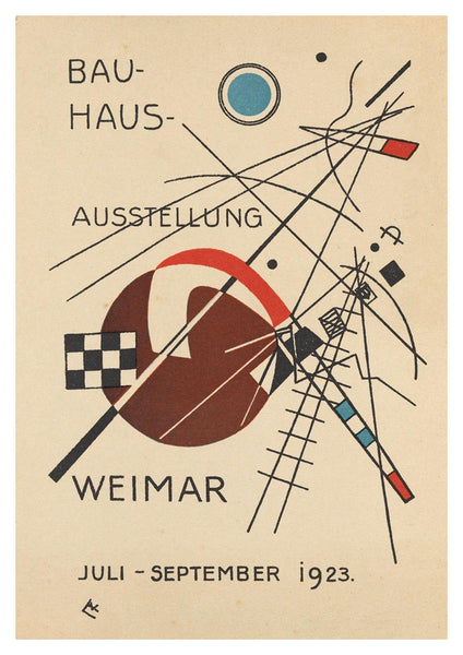 BAUHAUS EXHIBITION POSTER: Reproduction Gallery Poster - The Print Arcade