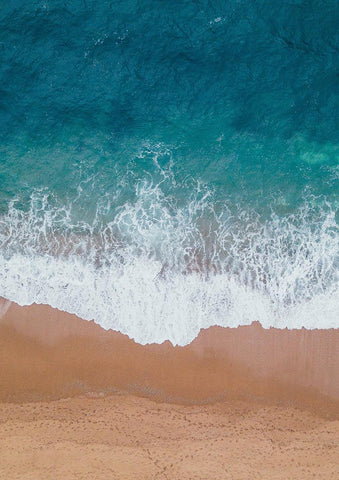 BEACH PRINT: Sea on Sand Art Photograph