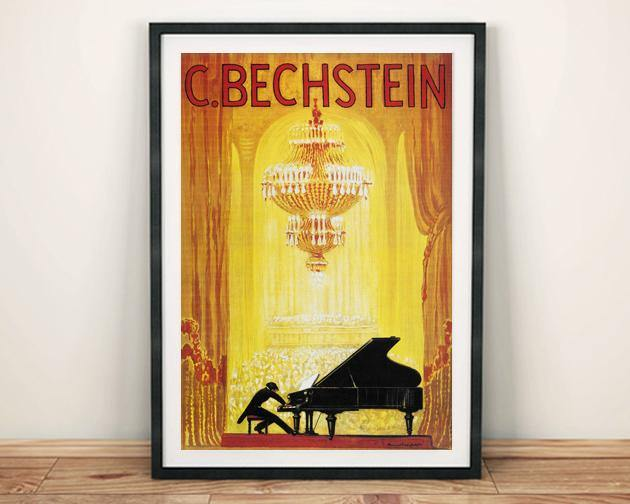 BECHSTEIN POSTER: Vintage Piano Advert Print - The Print Arcade